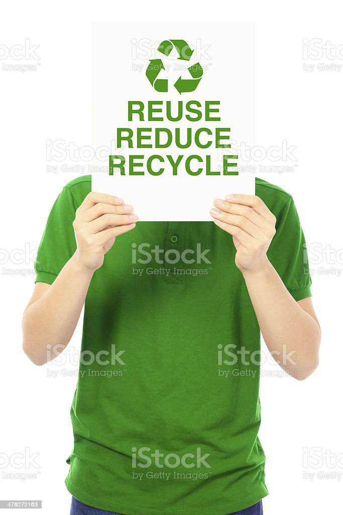 Reduce, Reuse, and Recycle royalty-free stock photo