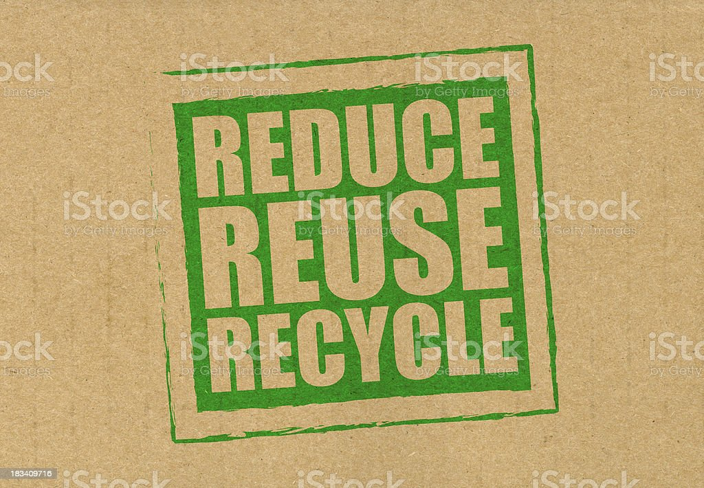 Reduce reuse recycle royalty-free stock photo