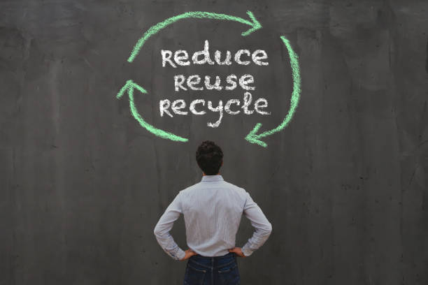 reduce reuse recycle, sustainability concept stock photo