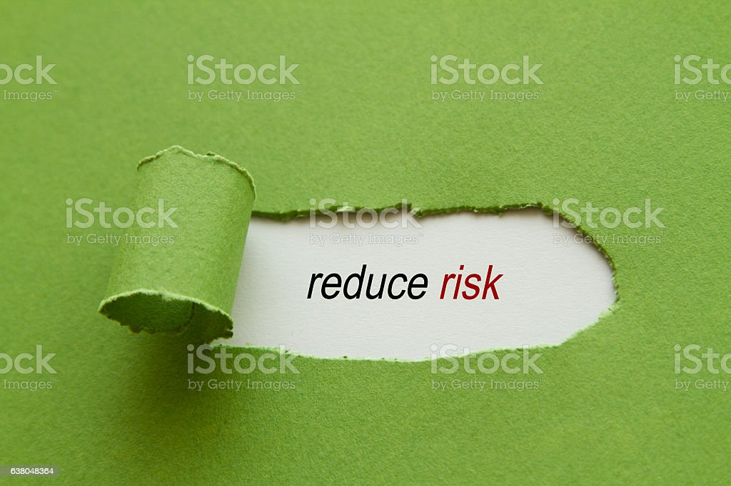 Reduce risk stock photo