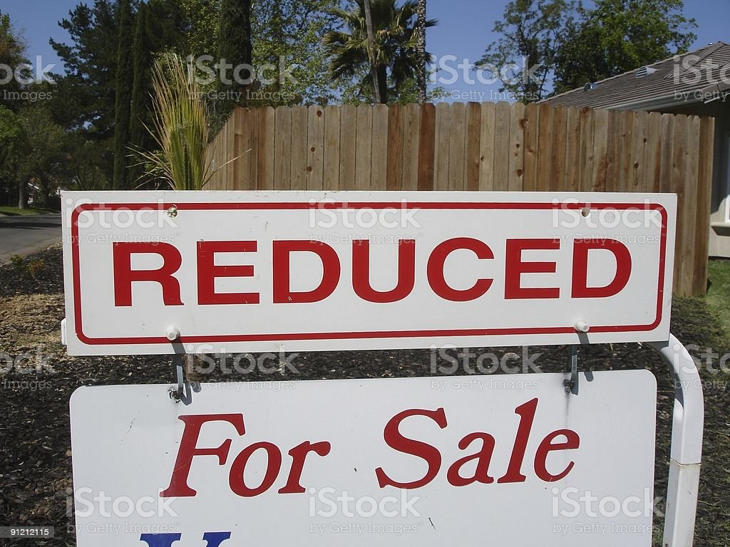 Reduced real estate sign royalty-free stock photo