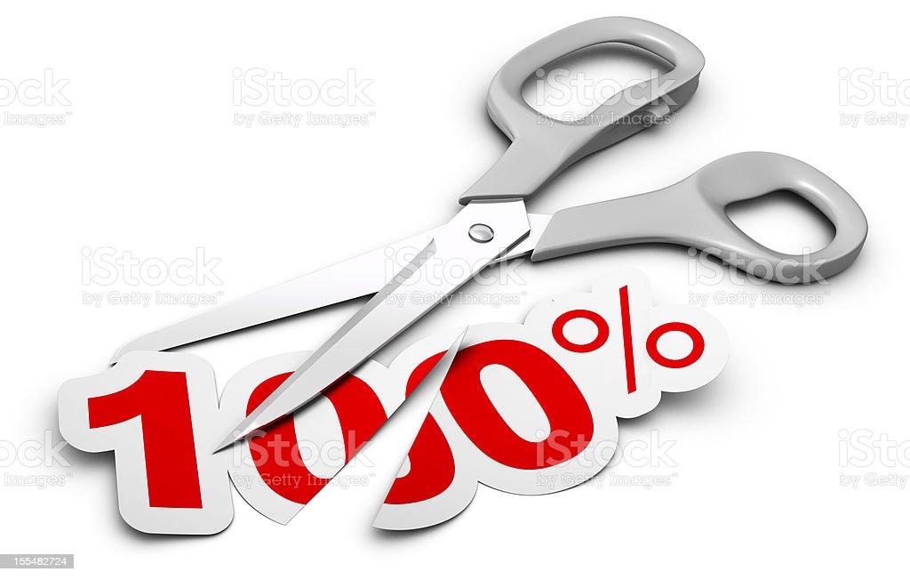 reducing price concept stock photo