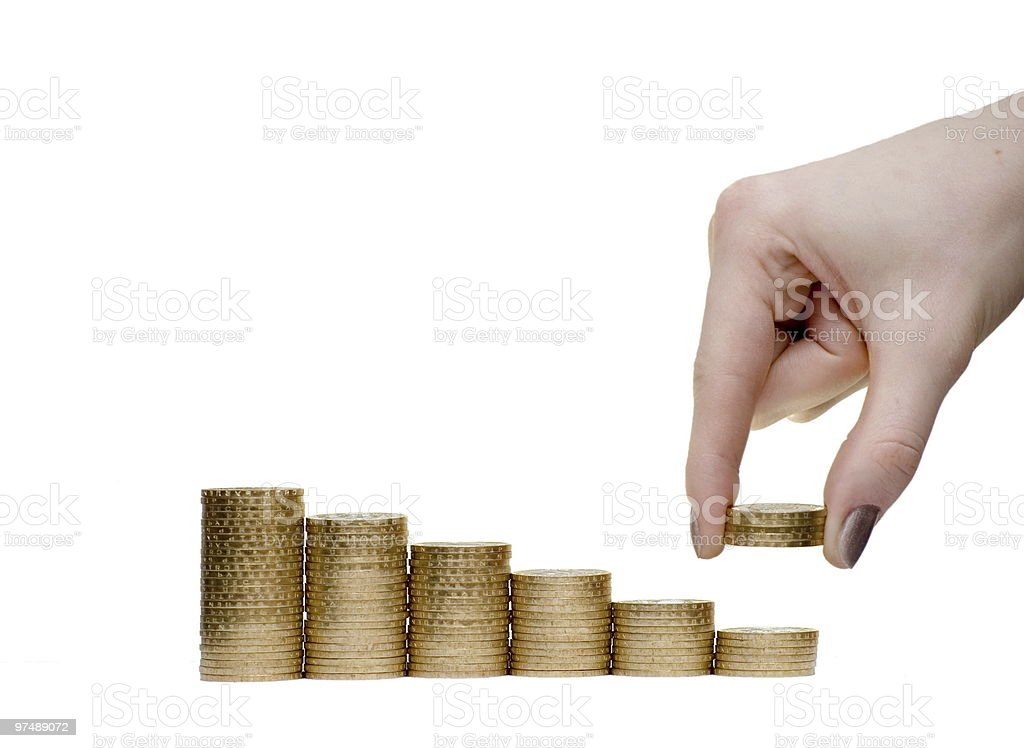 Reduction of incomes royalty-free stock photo
