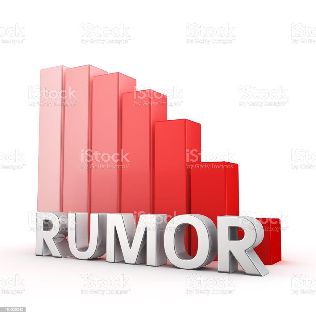 Reduction of Rumor stock photo