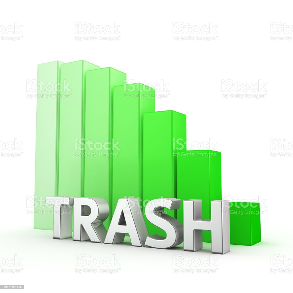 Reduction of Trash stock photo
