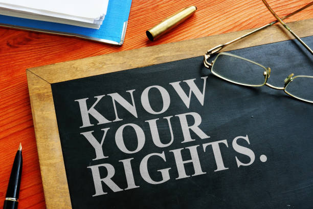 Redundancy concept. Know your rights sign. stock photo