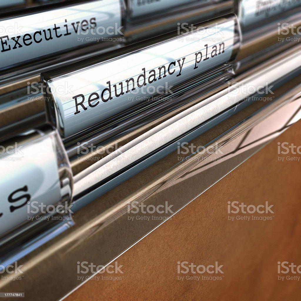 Redundancy Plan, Restructuring a Company stock photo