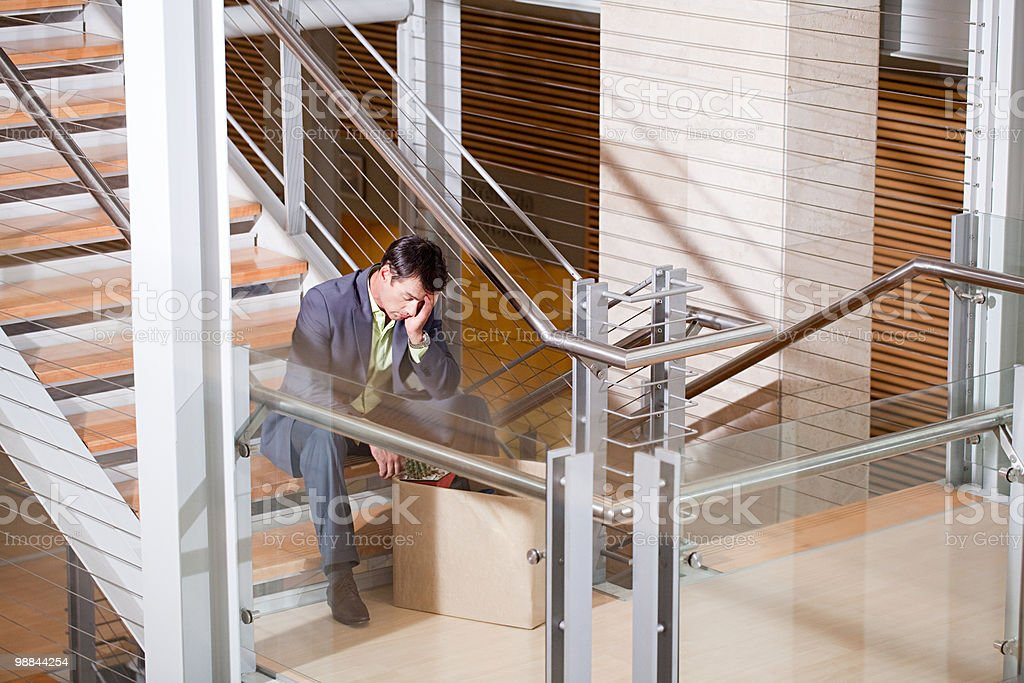 Redundant businessman 免版稅 stock photo