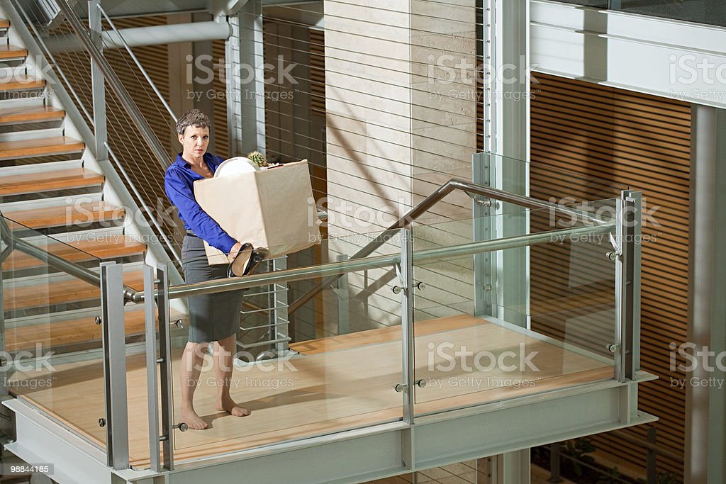 Redundant businesswoman royalty free stockfoto