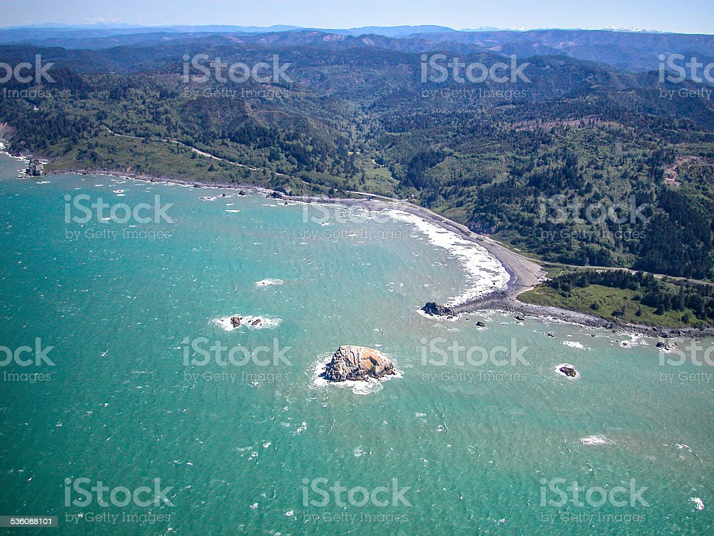 Redwood Coast Aerial stock photo