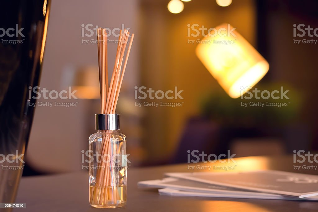 Reed Diffuser In High End Luxury Room stock photo