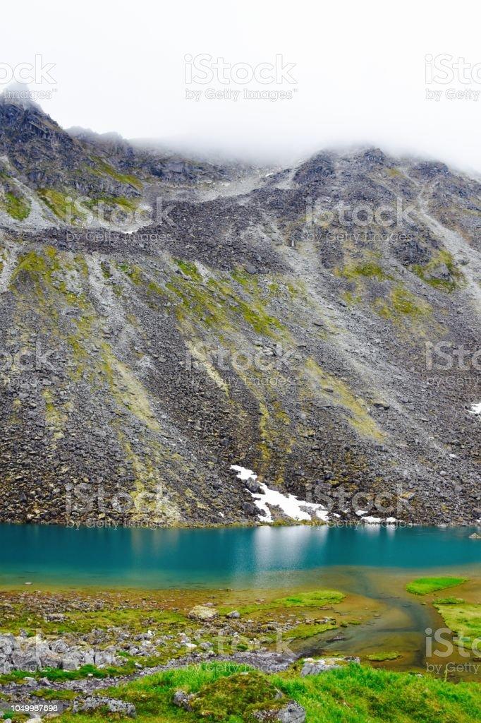 Reed Lakes, Alaska stock photo