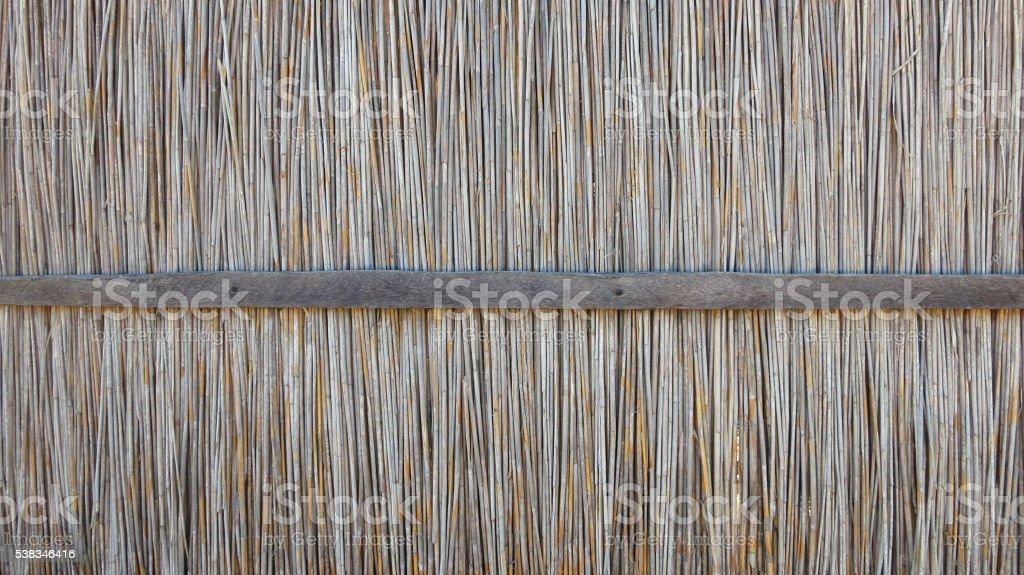 Reed mat texture stock photo