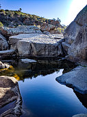 Reedy Creek, Mannum Waterfalls - calm water pool off a flowing river