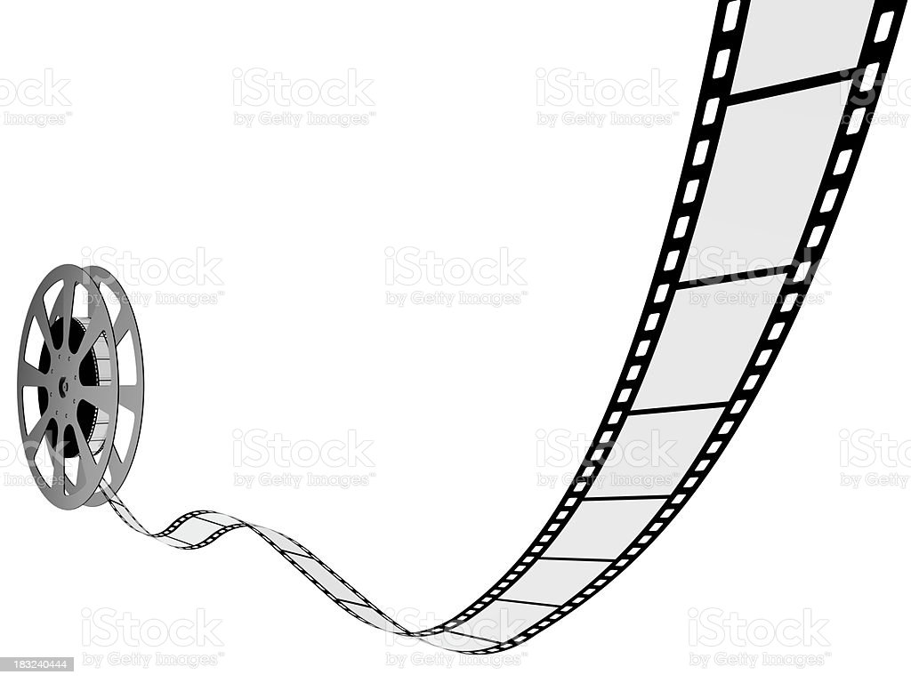 Reel film in high resolution royalty-free stock photo