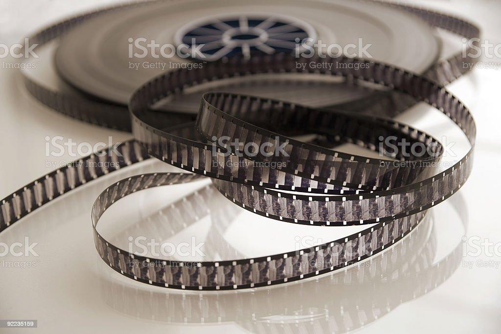 Reel Of Vintage 16mm Movie Film Stock royalty-free stock photo