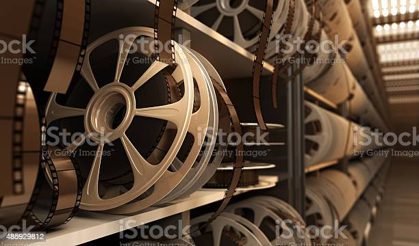 Reel With Tape Stock Photo - Download Image Now