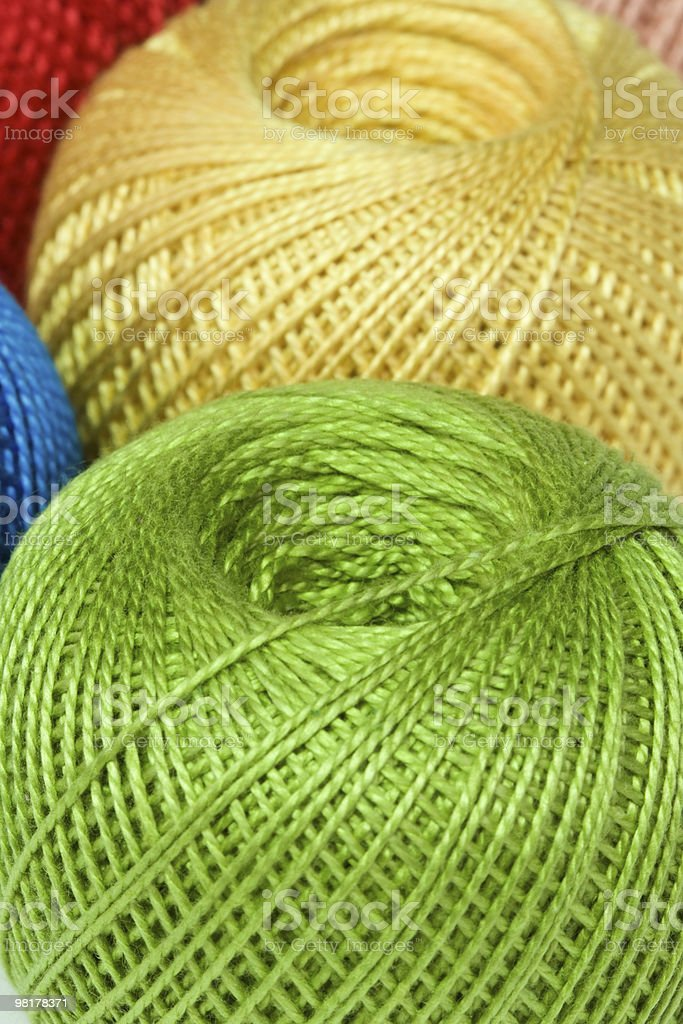 Reels of thread. royalty-free stock photo