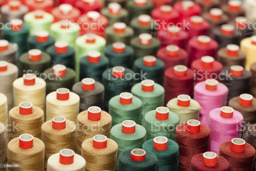Reels with colorful threads royalty-free stock photo