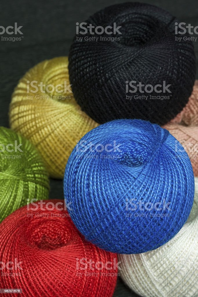 Reels with threads of different colors. royalty-free stock photo