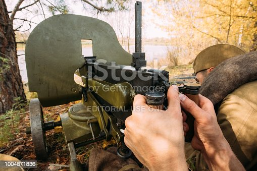 istock Reenactors Dressed As Russian Soviet Red Army Soldiers Of World 1004871836