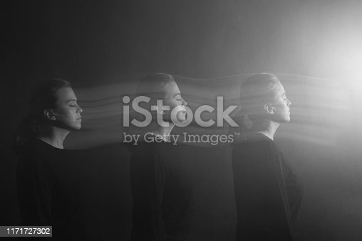 Multiple exposure, woman portrait