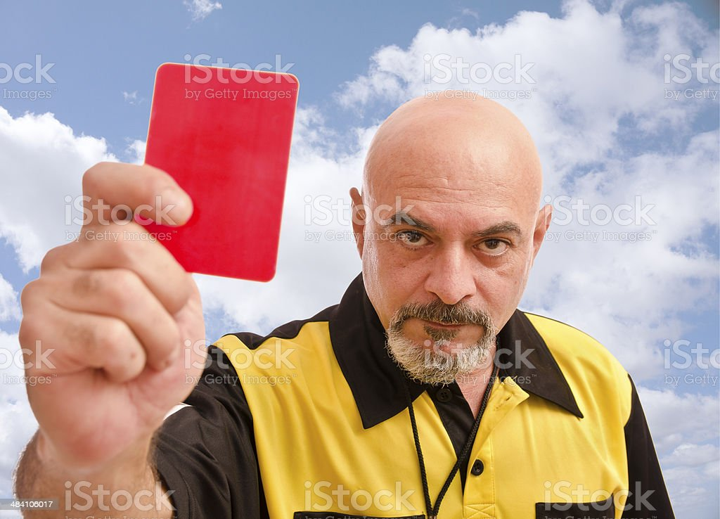 Ref and blue sky stock photo