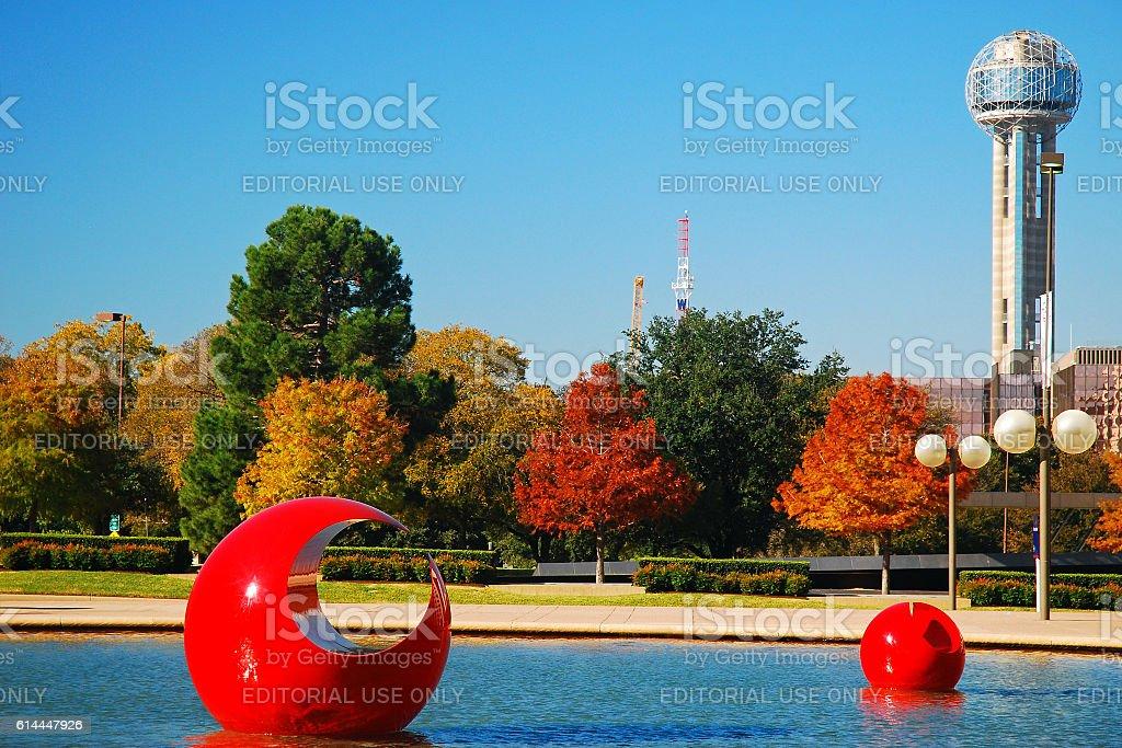 Refelcting Pool at Dallas City Hall stock photo