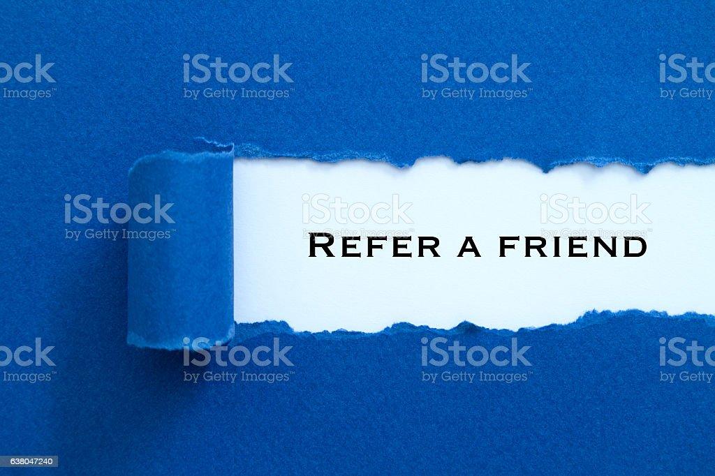 Refer a friend stock photo