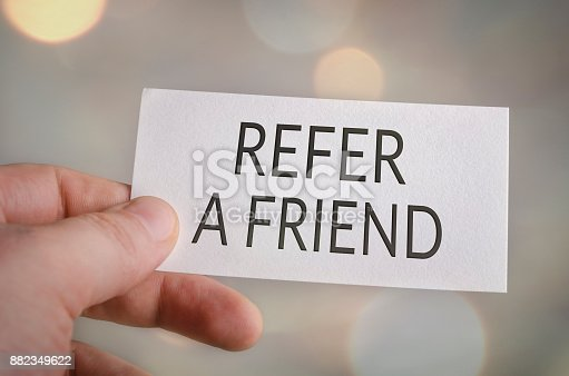 istock Refer a friend 882349622