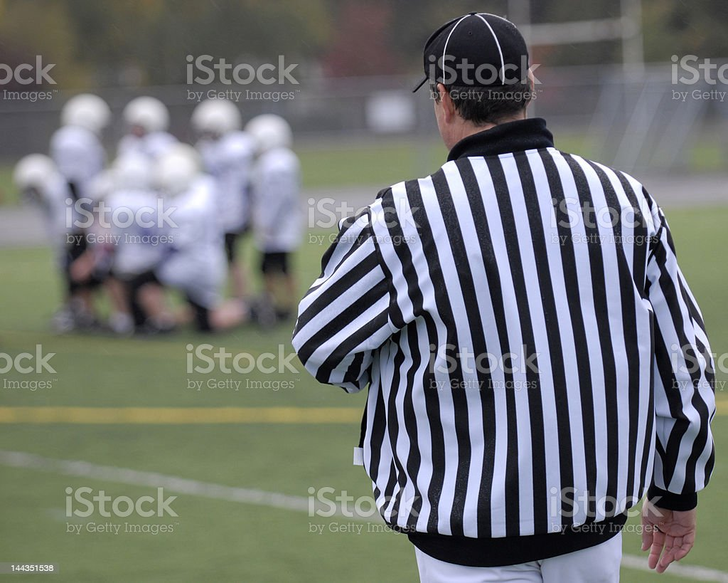 Referee for football royalty-free stock photo