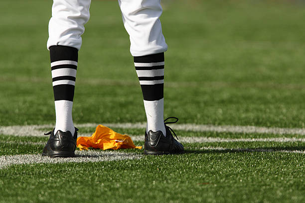 Referee Legs and Flag  referee stock pictures, royalty-free photos & images