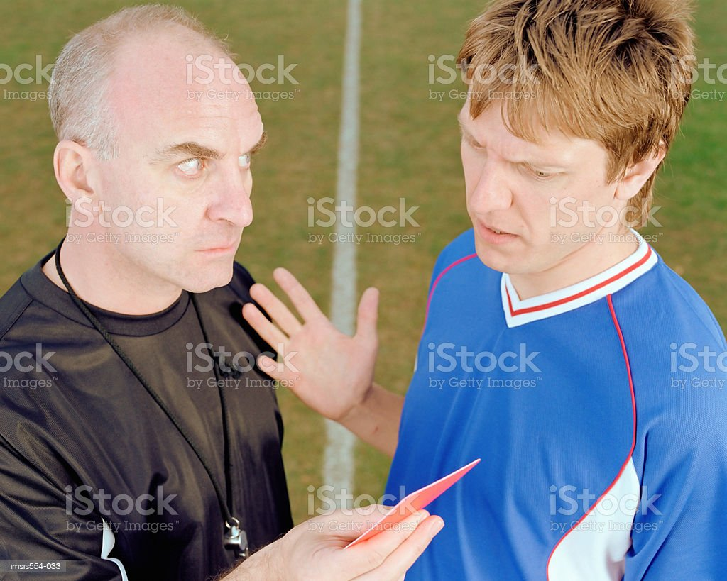 Referee presenting red card royalty-free 스톡 사진