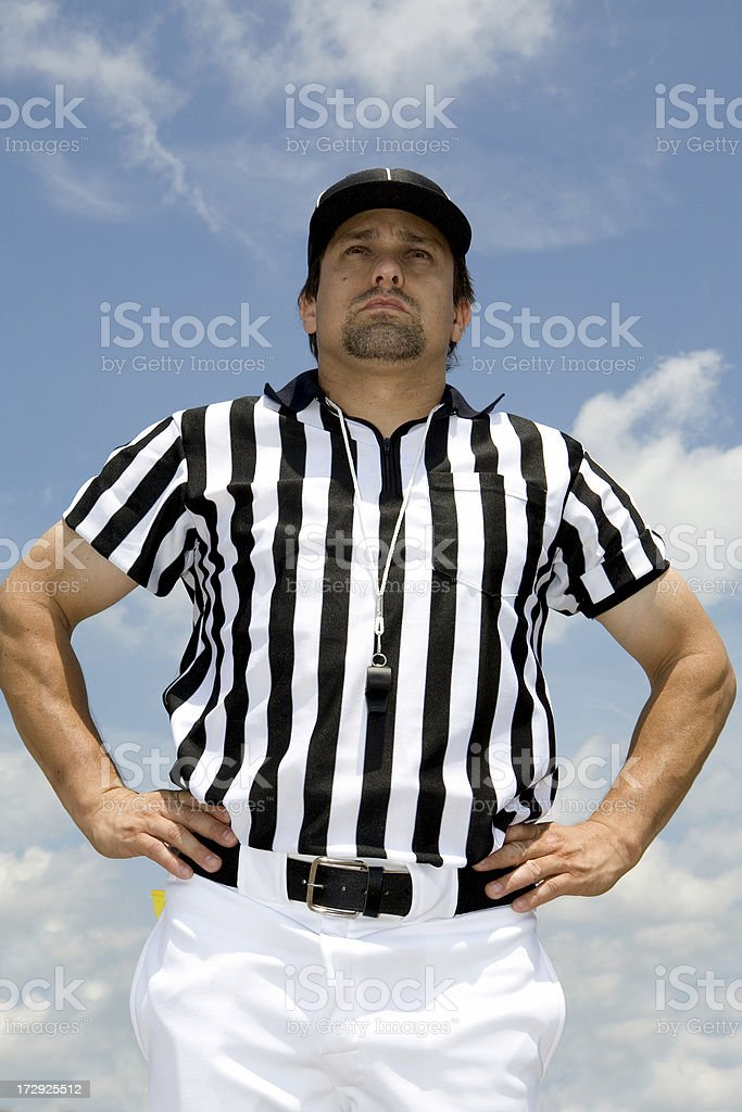 Referee Series: Offside royalty-free stock photo