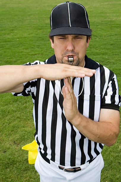 referee series:  time out - referee stock photos and pictures