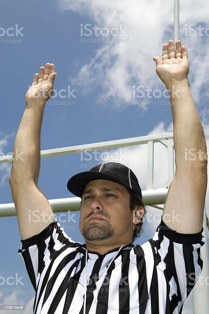 Referee Series:  Touchdown royalty-free stock photo