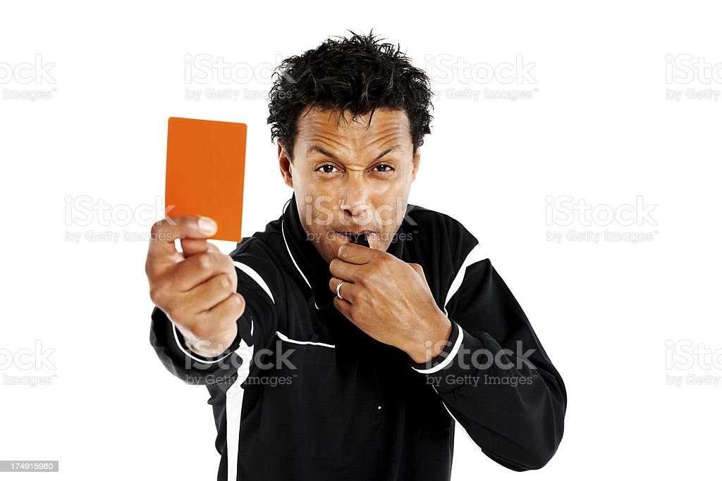 Referee showing you the red card royalty-free stock photo