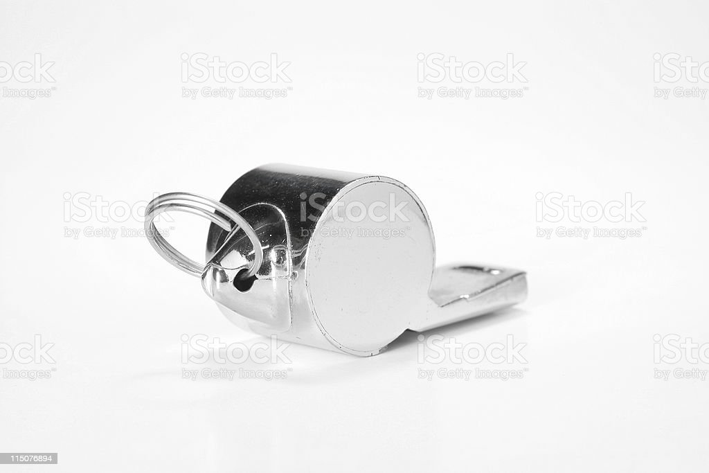 Referee whistle in perspective royalty-free stock photo