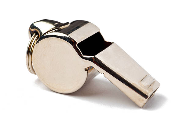 Referee Whistle stock photo