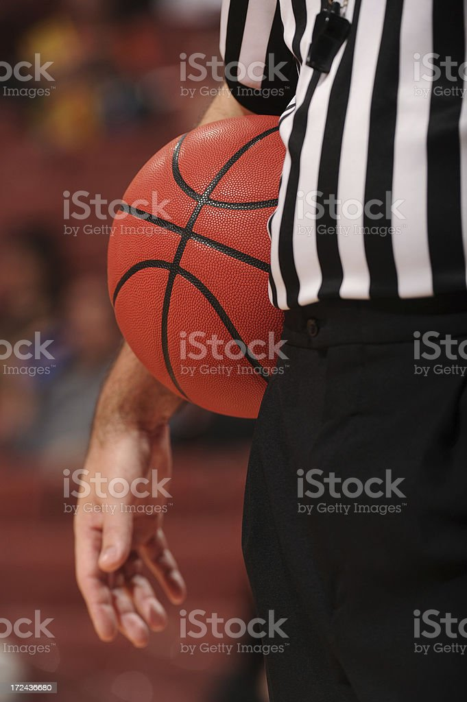 Referee with Basketball royalty-free stock photo
