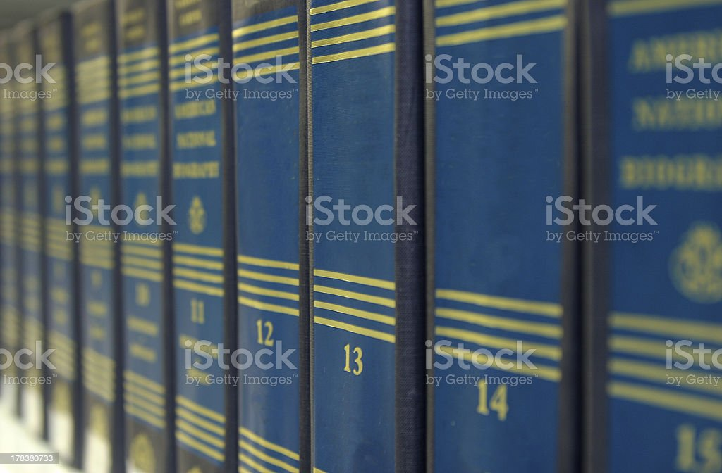 reference books stock photo