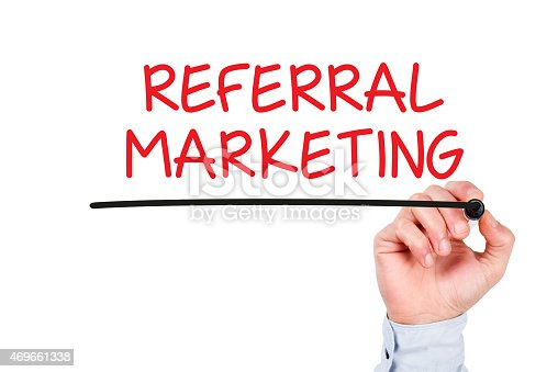 Referral Marketing Concept on Whiteboard