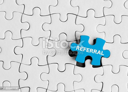 istock Referral, Puzzle concept. 1130662239