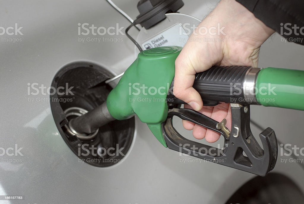 refilling the car royalty-free stock photo