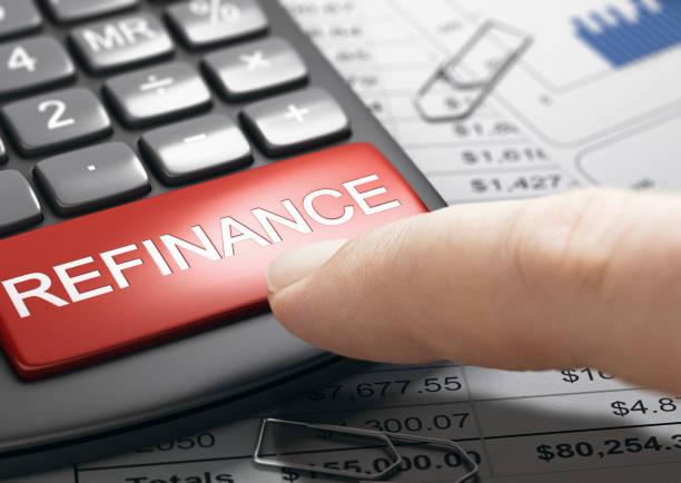 Refinancing debt, loan or mortgage. Bad credit repair. stock photo