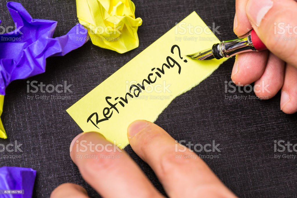 Refinancing stock photo