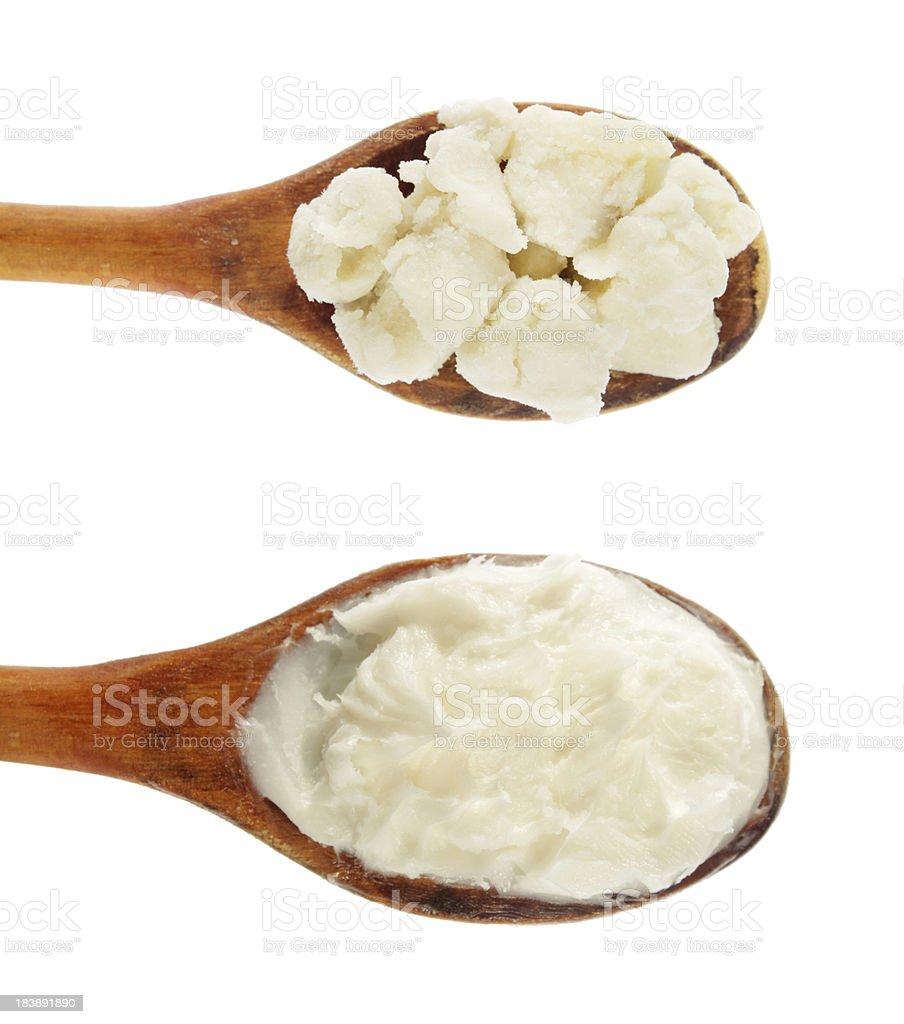 Raffinée et brute du beurre de karité - Photo