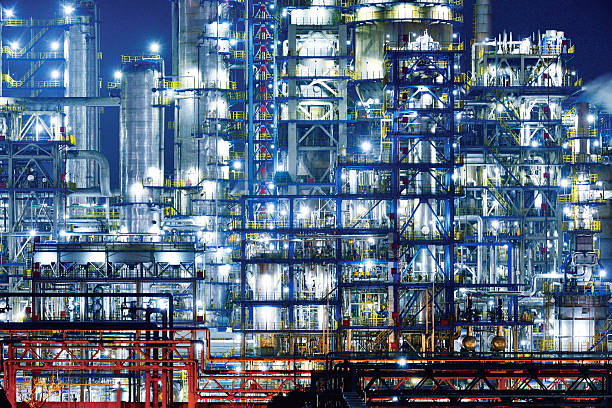 Refinery & Chemical Plant stock photo