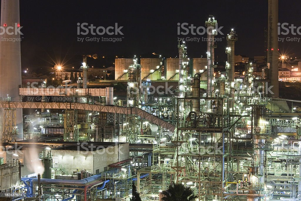 Refinery close-up royalty-free stock photo