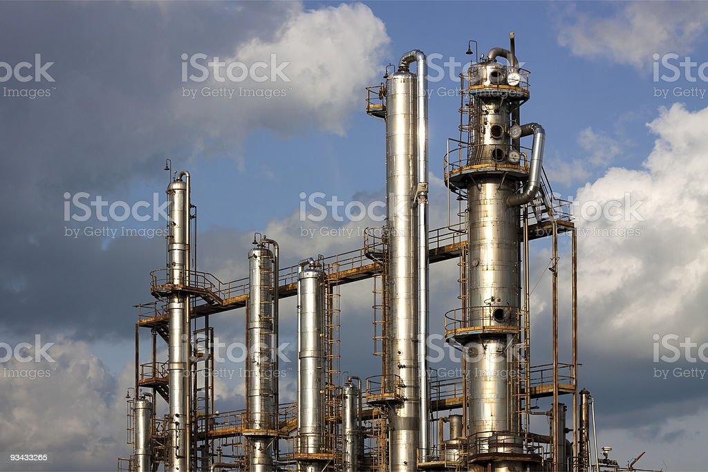 Raffinerie-Anlage Lizenzfreies stock-foto